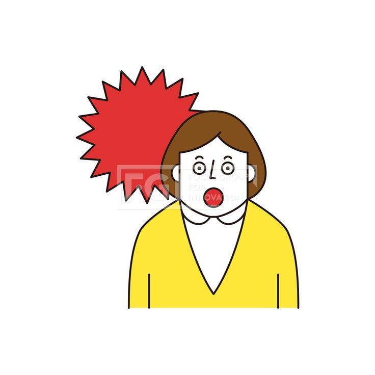 ILL161, 프리진, 일러스트, 생활, 사람, ILL161, 캐릭터아이콘, 캐릭터, 인물, 손짓, 상반신, 손가락, 핸드모션, 동작, 청년, 여성, 여자, 날씨, 놀람, 충격,#유토이미지