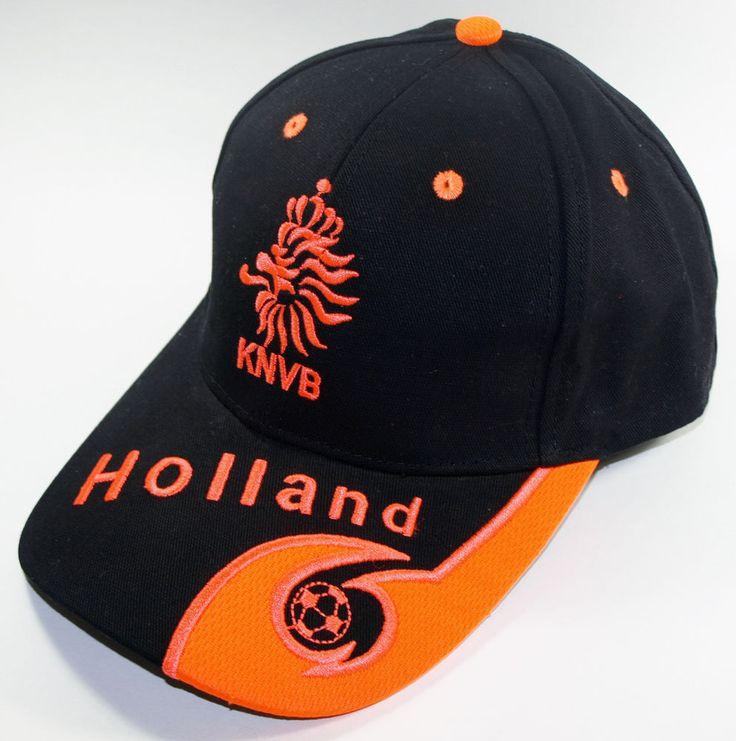 Holland soccer cap black sport football f�tbol netherlands ...