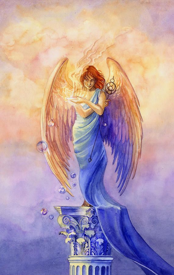Angel Of Truth And Illusion Painting  - Angel Of Truth And Illusion Fine Art Print