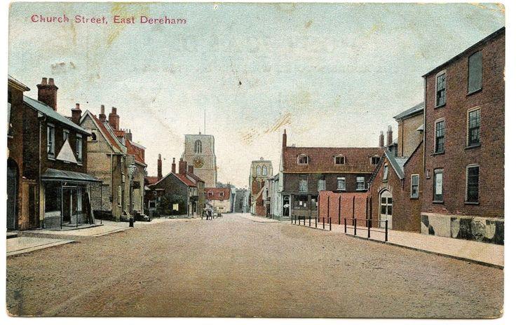 Old Rare Postcard Church Street East Dereham Norfolk Dated 1912 (Ref: AK363) | eBay