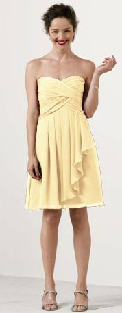 Shop David's Bridal #bridesmaid dresses in Canary #yellow yea ...