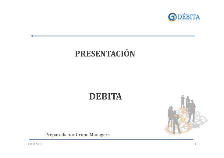DÉBITA es una plataforma tecnológica para la negociación y cobranza ON-LINE de deudas morosas, que facilita la gestión de pago y la re-inserción al mercado de los deudores morosos.