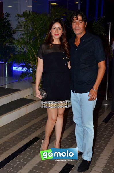 Bhavana Pandey & Chunkey Pandey at Sajid Khan's birthday party in Mumbai