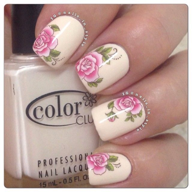 Nail Arts By Rozemist Cath Kidston Vintage Inspired: Best 25+ Rose Nail Art Ideas On Pinterest