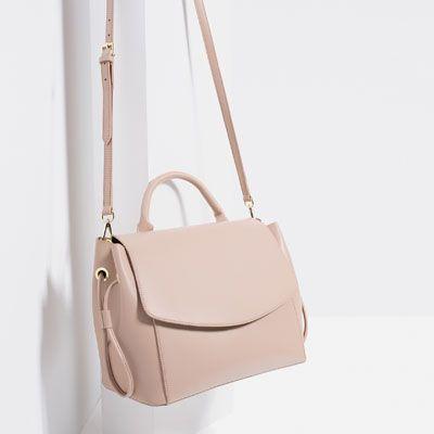 minimalistic pastel pink bag Zara