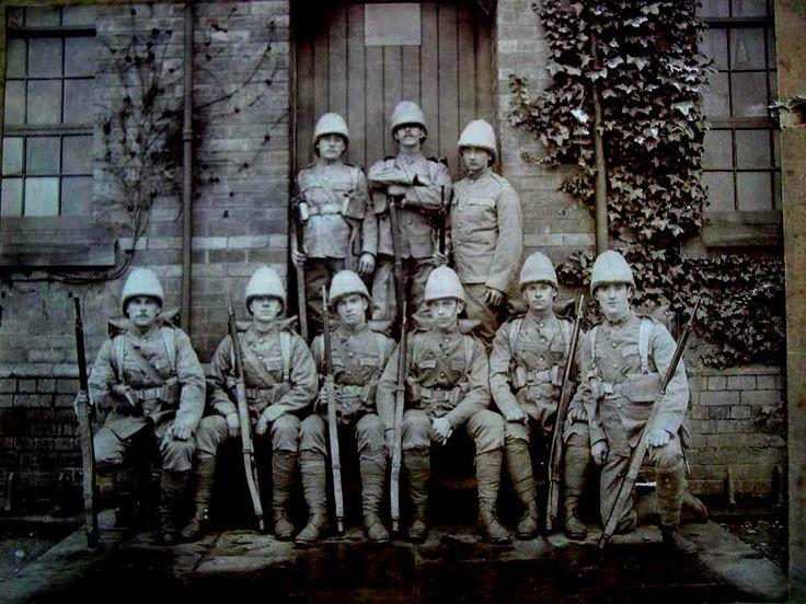 3rd (Volunteer) Battalion providing draft for the 1st Battalion in the Boer War.