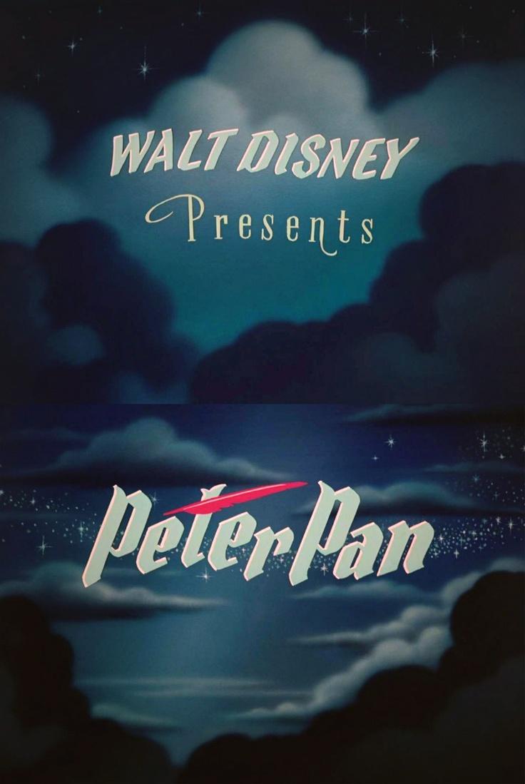 """my favorite disney movie... of all time.  walt disney presents """"peter pan"""""""