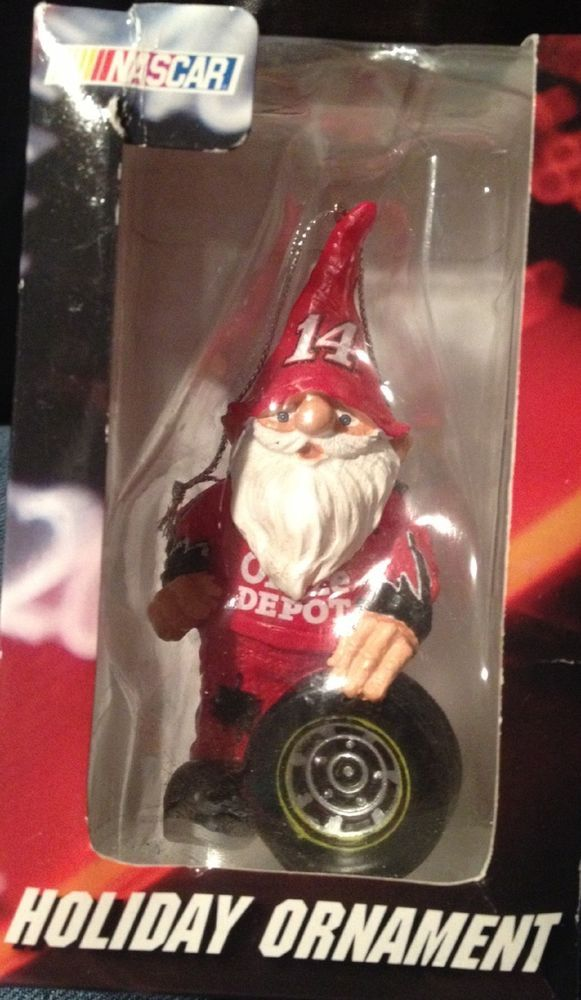 Nascar #14 Stewart Office Depot Gnome Christmas Ornament NEW #ForeverCollectibles