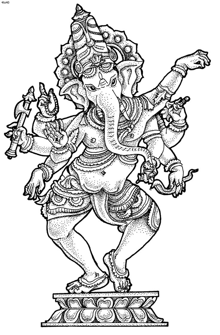Ganesha coloring pictures ganesh chaturthi coloring for India coloring pages