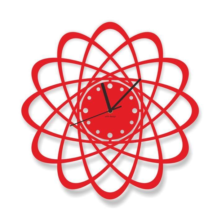 Dekoracyjny zegar ścienny Urlik Design Atom ◾ ◾ PrezentBox
