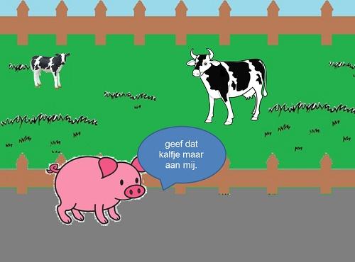 Powerpoint van het liedje: Een koetje en een kalfje. De muziek komt uit Eigenwijs. Te gebruiken in de lente of bij het thema boerderij.
