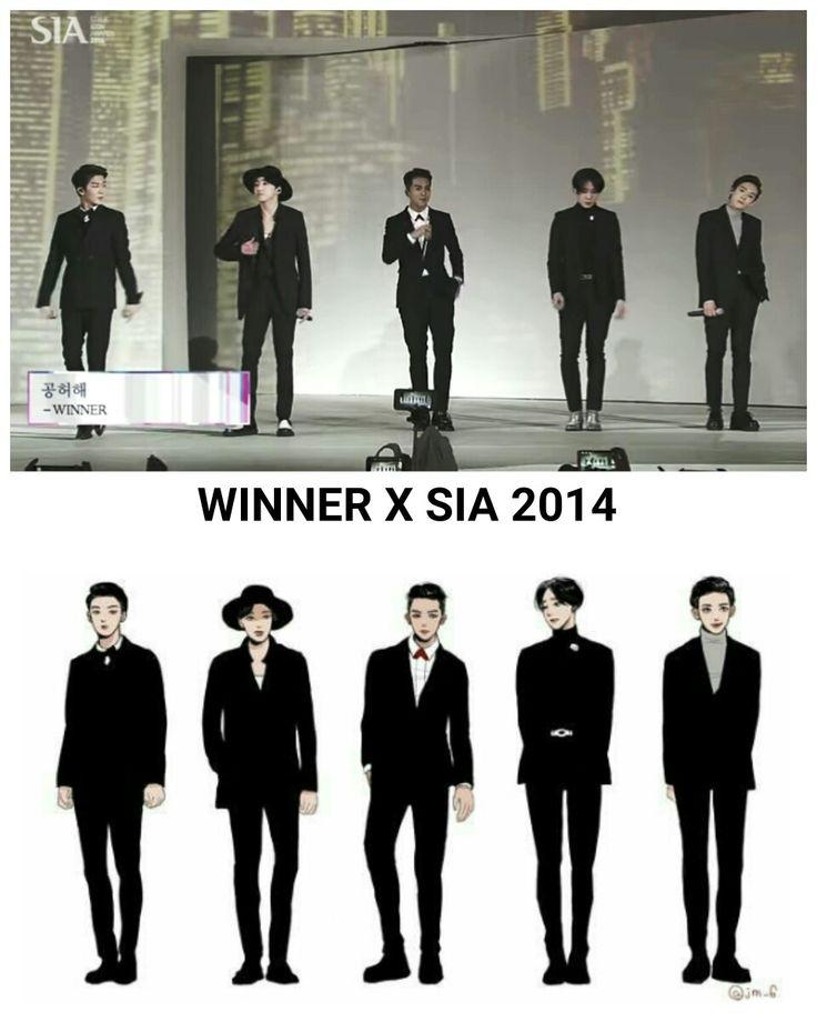 Winner X SIA 2014 fanart  #kangseungyoon #songmino #kimjinwoo #leeseunghoon #namtaehyun #winner
