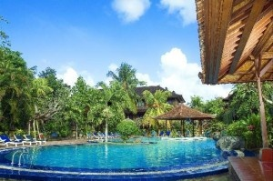 One of the most enjoyable features of the resort is the outdoor pool which leads to a swim up bar., and the onsite Shinju massage service is not to be missed.    Matahari Bungalow Hotel address Jl. Legian No. 201 Kuta, Legian, Bali, Indonesia