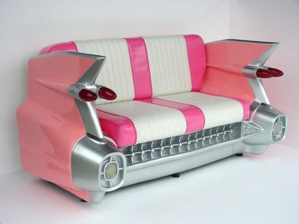 Pink caddy couch ladies