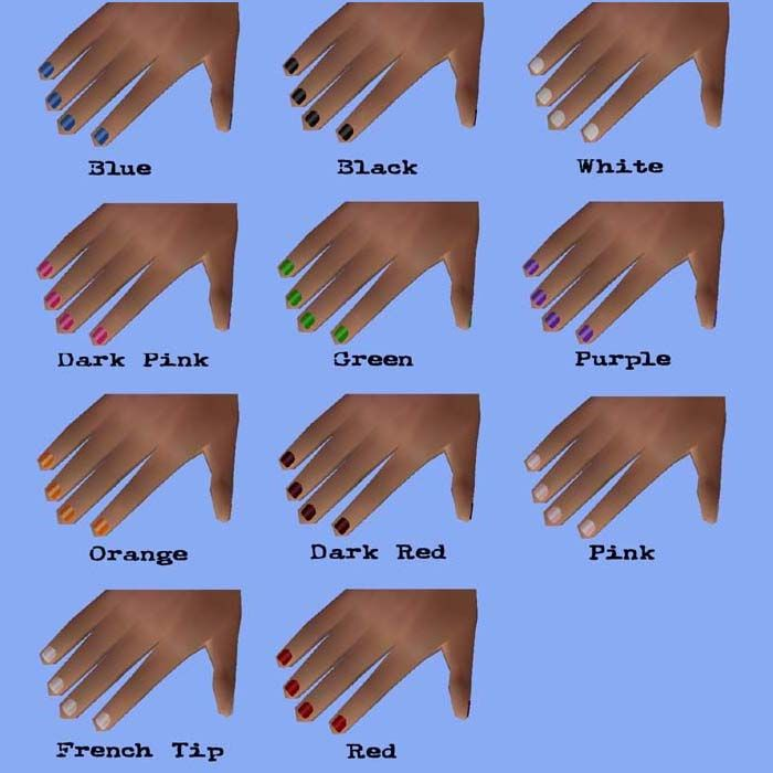 Awesome The Sims 4 Nail Design Games List