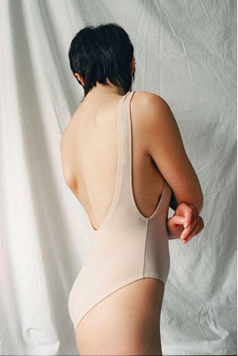 Nude bodysuit by SØSTER STUDIO