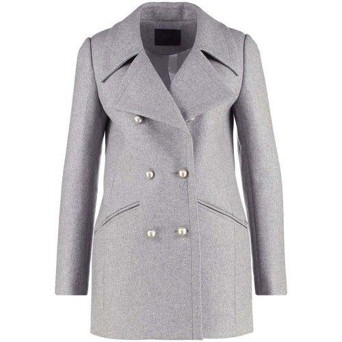 Manteaux Ikks manteau/caban femme gris chiné Gris 350x350