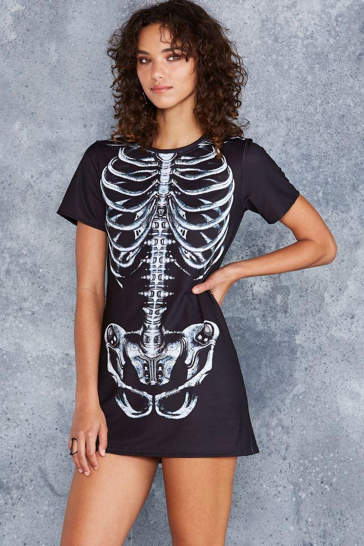 Mechanical Ribs Black Tee Dress - 48HR ($80AUD) by BlackMilk Clothing