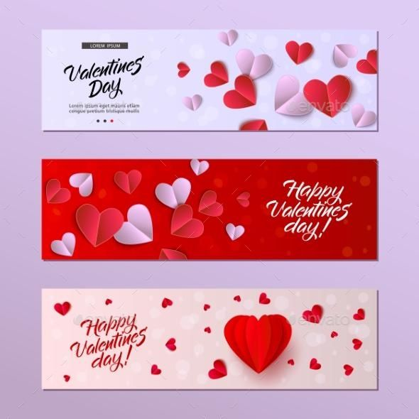 Vector Happy Valentines Day Card Template Set Valentine Card Template Valentines Day Card Templates Valentine Day Cards