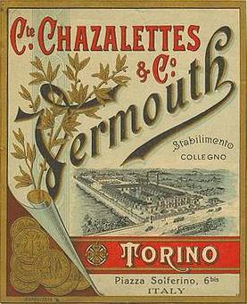 Vintage Vermouth label