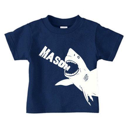 Personalizada shark camisa tiburón cumpleaños por PricelessKids