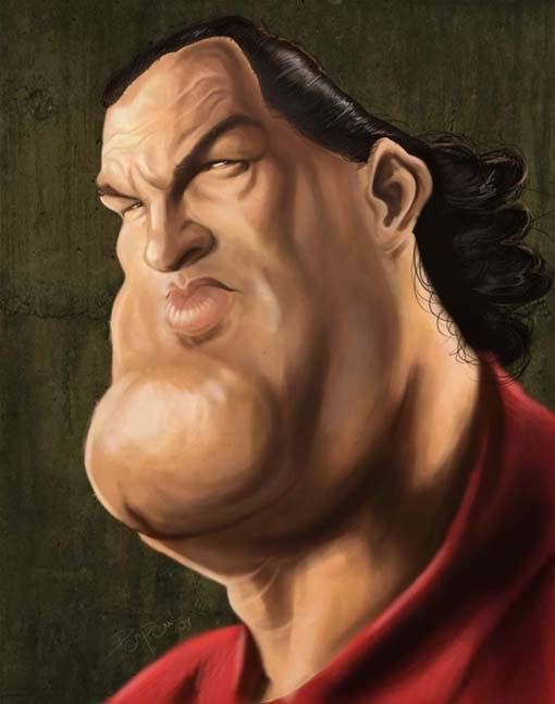 Caricature  #art #Caricature #cool, Steven Seagal