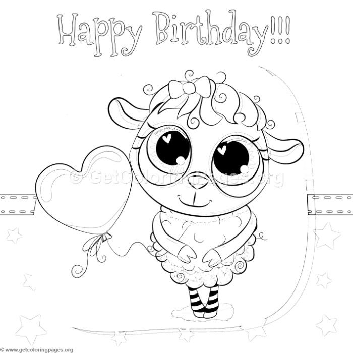 Download Free Cute Happy Birthday Sheep Coloring Pages Coloring Coloringbook Coloringpages An Coloring Pages Christmas Coloring Pages Animal Coloring Pages