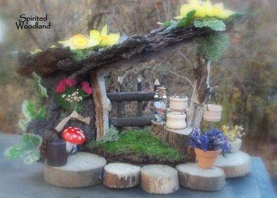 Mini Fairy House   Tree Stump Seats.