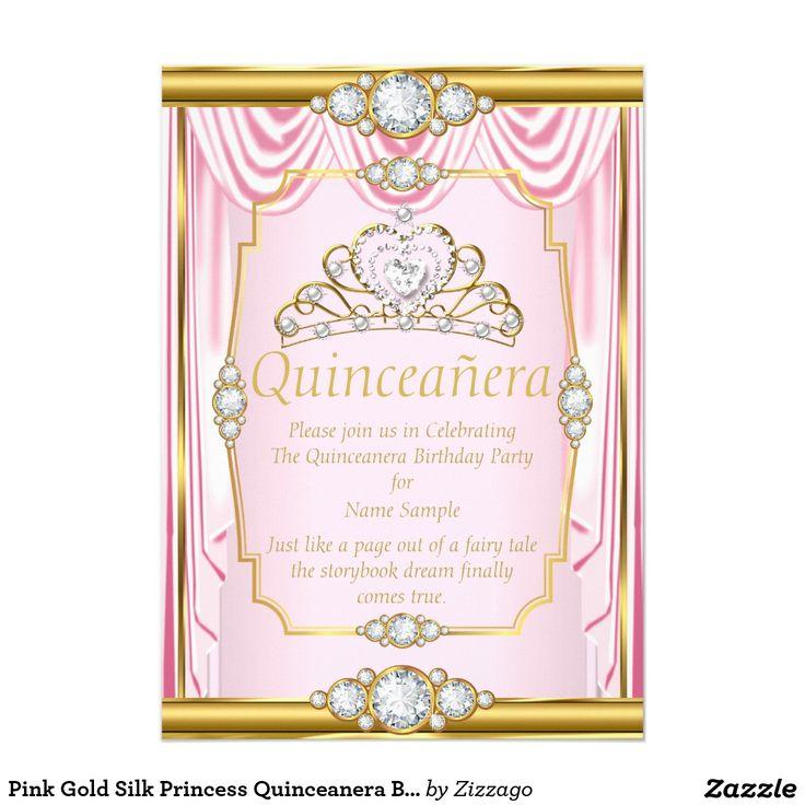 Best Quinceanera Birthday Invitations Images On Pinterest - Birthday invitation zazzle