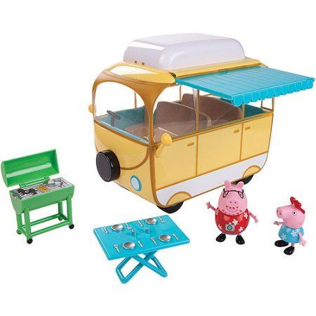 Peppa Pig Family Campervan Play Set with 2 Figures - Walmart.com