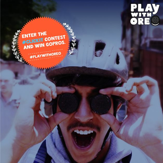 Last 40 minutes!  Click a funny, crazy, cool or interesting pic with Oreos over your eyes and post as a comment. ‪#‎ClickIt‬ ToWinIt ‪#‎PlaywithOreo‬ #Contest #Oreo #GoPro #Camera #Prize  Participate on Facebook: https://www.facebook.com/oreo/photos/a.124804629652.101377.114998944652/10153740681694653/?type=3  Or Participate on Twitter: https://twitter.com/OreoIndia/status/651260654679138304  T&C Apply: bit.ly/OreoTandC