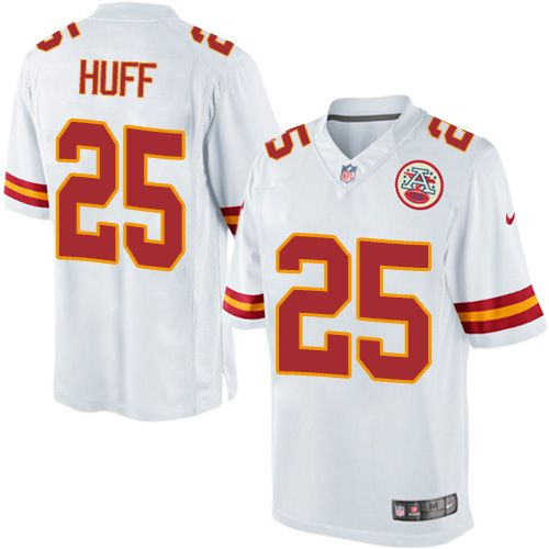 Youth Nike Kansas City Chiefs #25 Marqueston Huff Limited White NFL Jersey