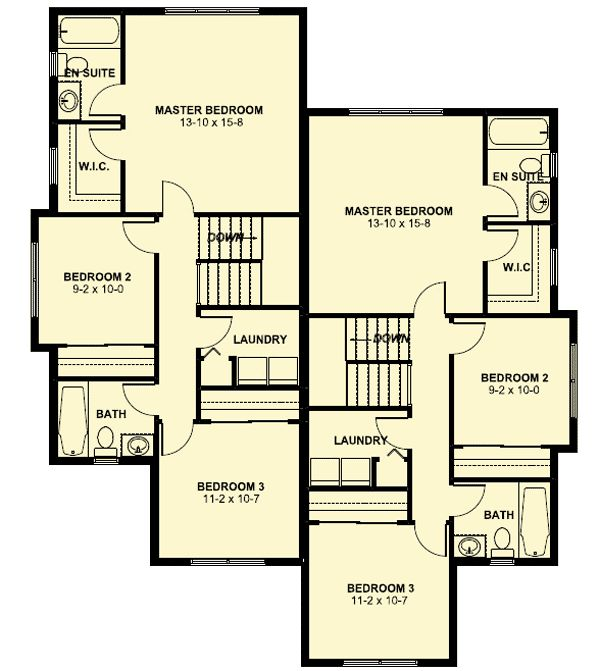 12 best duplex apt ideas images on pinterest duplex for Narrow lot multi family house plans