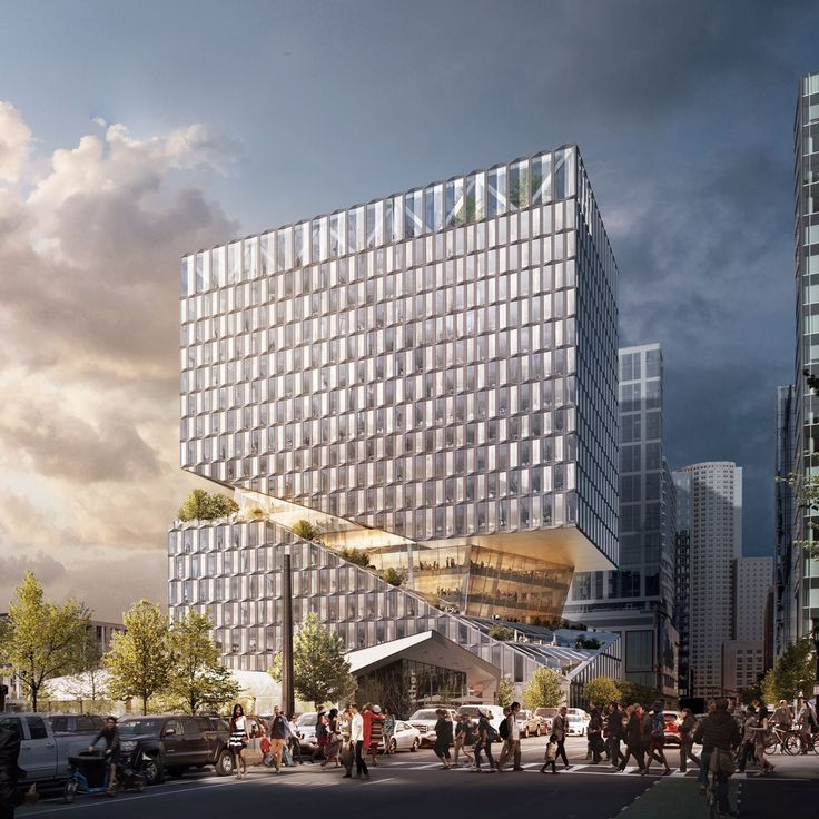 A huge slice filled with terraces and trees will be cut through the centre of OMA's 88 Seaport development in Boston – the firm's first project in the city.