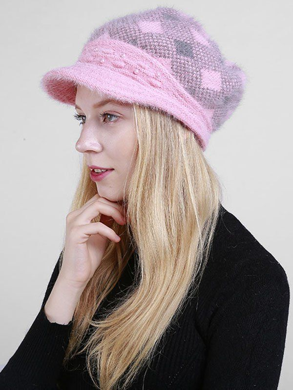 db2437eb371 Pink Trendy Newsboy Hat for Ladie