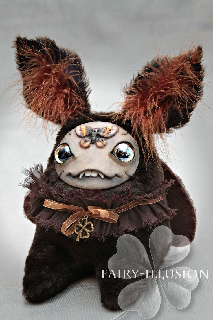 DIY-dolls-doll monster-butterfly-moth-interior doll-goods