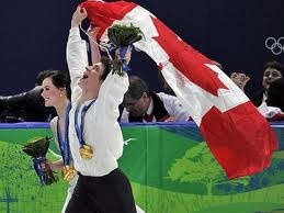 Tessa Virtue and Scott Moir at the 2010 Winter Olympic games in Canada