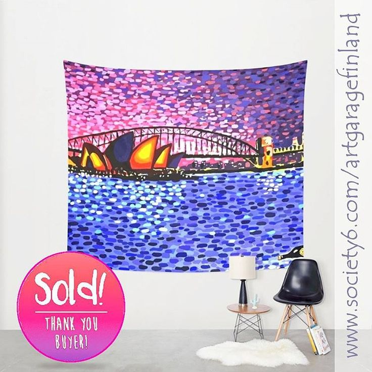 Sold!..thanks to the kind person who recently bought this big 'Sydney Harbour' #walltapestry design from my Society6 webstore. @society6 #instapic #aussie #art #s6living #sydneyoperahouse #sydneyharbour #instaartwork #oz #instaart #artist #artistsofinstagram #sydney #instaaustralia #hoganfinland #australia #instalike #instalikes #konst #taide #wallart #arte #artcollection #artcollectors #gallery #instasydney #society6 #homedecor #interiordesign #lovesydney