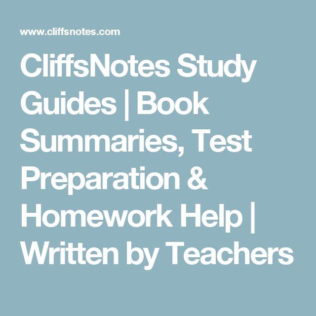 Cliffs notes homework help literature