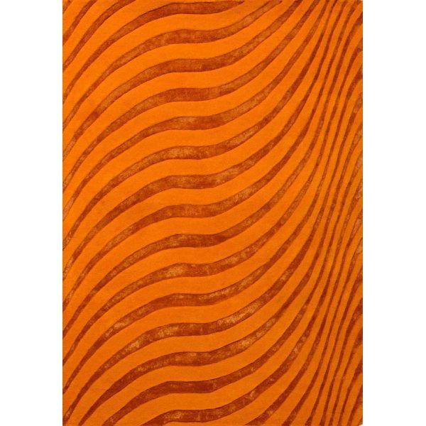 """Ковер """"Волны"""" оранжевого цвета итальянского производства с доставкой по России. Уникальные итальянские ковры по доступным ценам в интернет-магазине """"Маркис"""". #carpet #carpets #rugs #rug #interior #designer #ковер #ковры #дизайн  #marqis"""