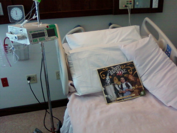 My first day out of bed in the hospital after an Addison Crisis..There is no place like home!!!!!