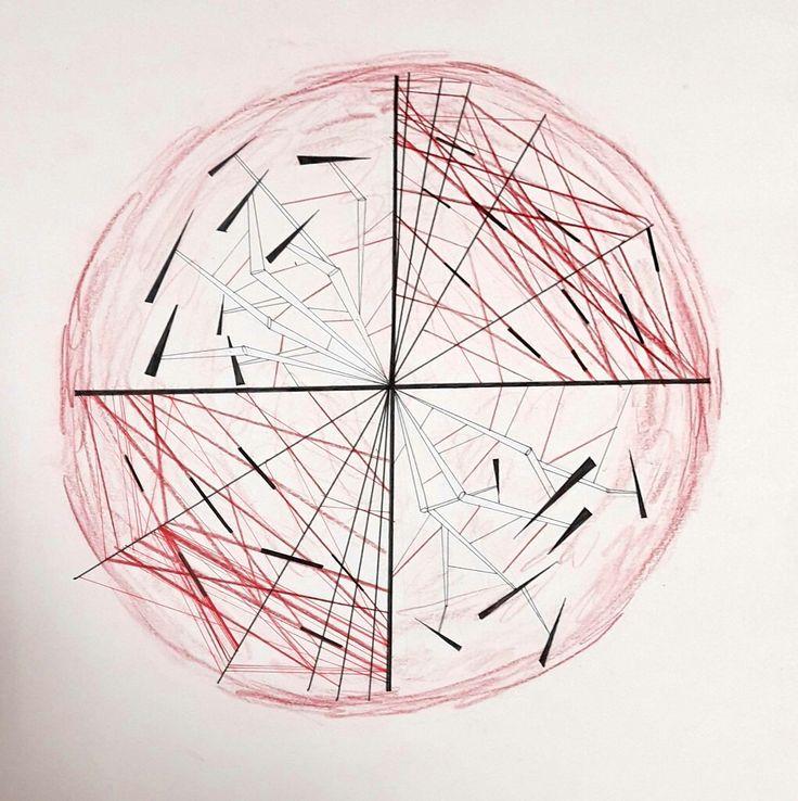 칼부림의 움직임을 색채와 선으로 표현