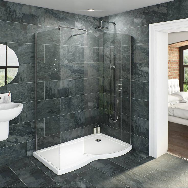 Delightful Walk In Shower Cubicles Part - 5: V6 Curved Walk In Shower Enclosure U0026 Tray Pack 1400 X 900 RH - Victoria  Plumb