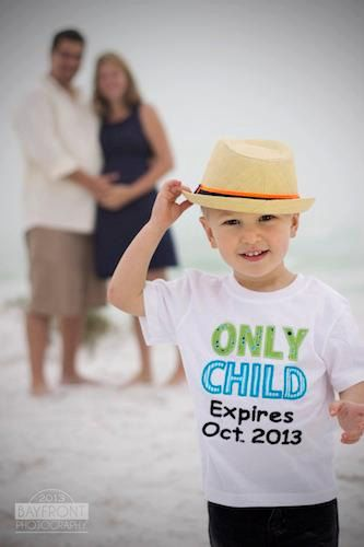 Only Child Expires or Expiring Tee, Personalized Applique Monogrammed T Shirts, Great Way to Announce Baby Number 2