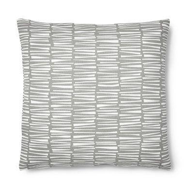 Kudde mönstrad, 45x45 cm, ljusgrå