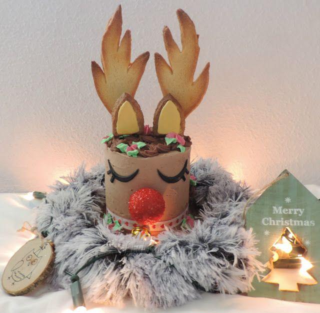 Juliart: Tarta reno Rudolf para Navidad