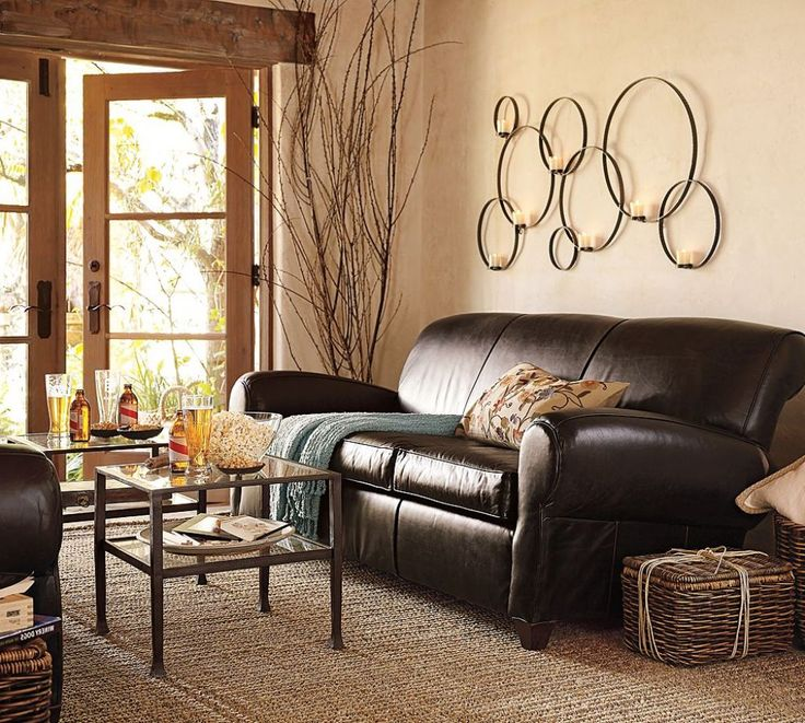 Modern Natural Looking Living Room With Beige Wall Paint