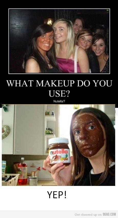 haha: Funny Pictures, Makeup, Giggles, Funny Stuff, Humor, Things, So Funny, Hilarious, Nutella