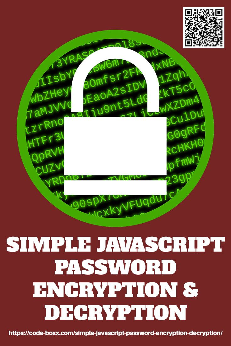 Simple Javascript Password Encryption & Decryption Learn