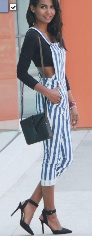 Striped Jumpsuit on Lolobu #striped